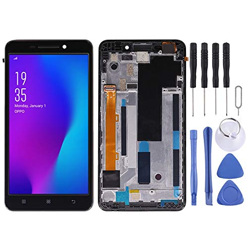 Zhouzl Lenovo LCD Screen LCD Screen and Digitizer Full Assembly with Frame for Lenovo A5000(Black) Lenovo LCD Screen (Color : Black)