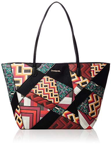 Desigual BORSA DONNA BOLS GRAPHIC ATLAS CAPRI ZIPPER 18WAXP16 unica...
