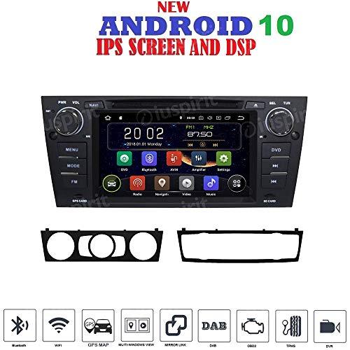 ANDROID 10 GPS DVD USB SD WI-FI Bluetooth Mirrorlink autoradio navigatore compatibile con BMW serie 3 / BMW E90 / BMW E91 / BMW E92 / BMW E93