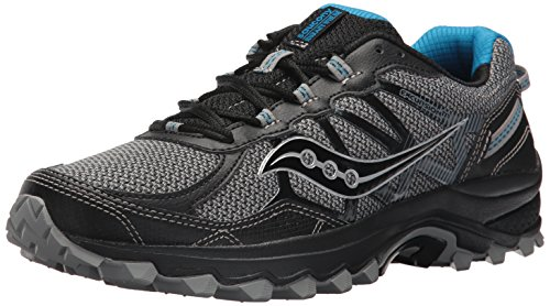 Saucony Men's Excursion TR11 Running Shoe, Black/Blue, 10.5 Medium US