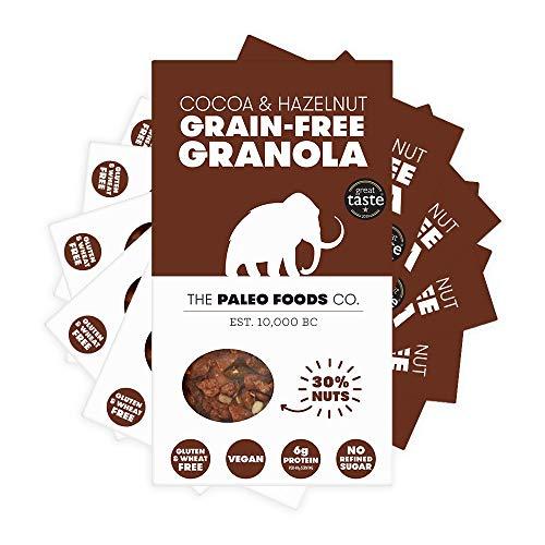 The Paleo Foods Company - 6 x 285g Grain and Gluten Free, Vegan Paleo Granola   Cocoa & Hazelnut