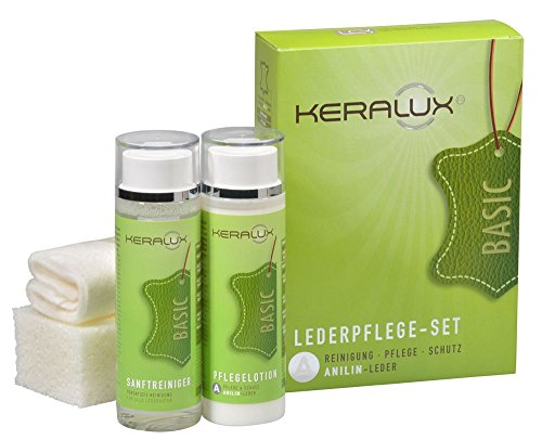 KERALUX Lederpflege Set A für Anilinleder, 2 x 200 ml Inhalt