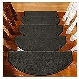 WJHCDDA Alfombras de Escalera Alfombras De Peldaños Semicirculares Esteras 24x65cm Escaleras Escaleras Almohadillas Antideslizantes Floor Runner (Color : A, Size : 10 Pieces Set)