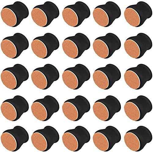SHUAISHUAI 36 stücke Stuhl Bein Protector Caps Filzboden Weiche Silikonmöbel Fußbecher Pads Möbel Tisch Füße Abdeckungen für Boden Tisch- und Stuhlfußabdeckung (Color : Black)