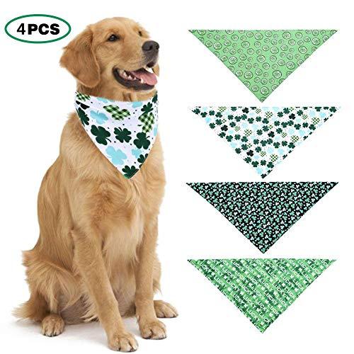 haodene Irisches Festival St. Patrick's Day Hundebandana Haustier-Speichel-Tuch-Dreieck-glückliches Grünes Schellfisch Haustier Kragen Schal Für Kleine Und Mittlere Hunde