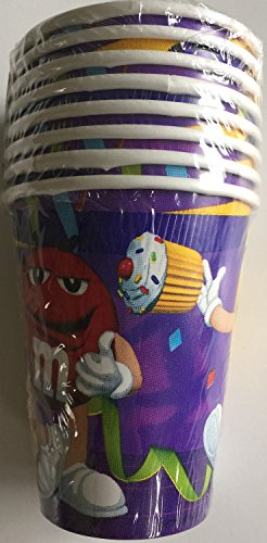 Best Prices! M & M Party 9oz Cups - 8 Paper Cups