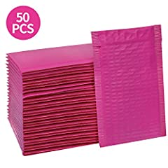LIGHT WEIGHT MAILERS - This pack of 50 4x8 inch padded envelopes is made from heavy duty plastic, are with fashionable design. And those padded mailers are lightweight mailing envelops, will not add to your shipping cost. CUSHION MAILERS - These mail...