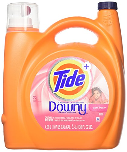 Tide Plus a Touch of Downy Liquid Laundry Detergent - 138 oz - April Fresh - 72 Loads - 2 Pack