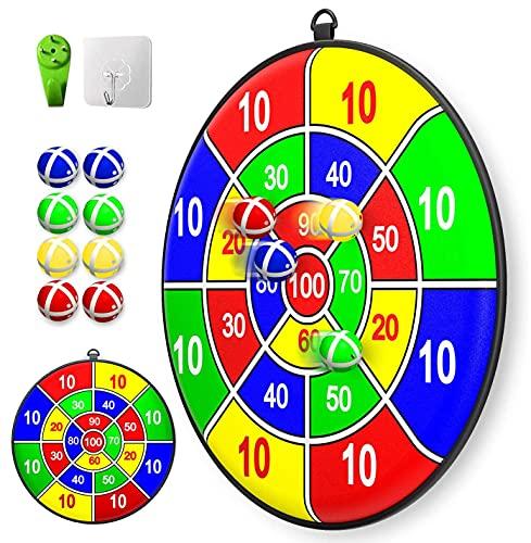 Lbsel Tema de fiesta de Navidad Juego para niños Dart Board con 8 bolas Juegos de mesa para niños Toy-Safe Dart Game-regalo para niños elección de juego interior al aire libre-13.8 Inches (35cm)