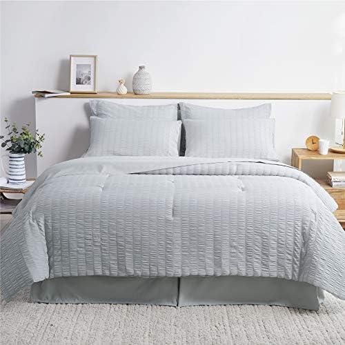 Bedsure Bed in A Bag Full Queen Comforter Set 8 Pieces Soft Microfiber Seersucker Bedding Set product image