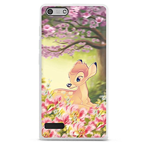 DeinDesign Silikon Hülle kompatibel mit Huawei Ascend P7 Mini Hülle weiß Handyhülle Offizielles Lizenzprodukt Bambi Disney