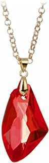 Sorcerer's Stone Pendant Chain Necklace - Red / Metal