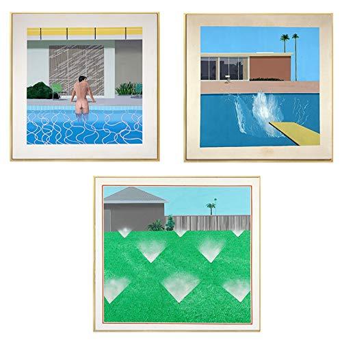 crjzty David Hockney A Bigger Splash Artist Benutzerdefinierte Home Decoration Poster und Drucke Wand Leinwand Kunst für Wohnzimmer Badezimmer Dekor 50x50cm
