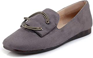 Large Size Shoes Small Size Shoes Peas Shoes Female Spring and Summer New Casual Shoes Autumn Flat Shoes Pregnant Women Scoop Shoes Large Size Women's Shoes (Color : Gray, Size : 41)
