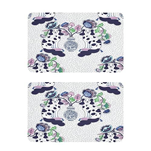 Hunihuni Imán para nevera Staffordshire perro chino, imanes de nevera, adhesivos decorativos para lavavajillas, para hogar, cocina, taquilla, oficina, pizarra, juego de 2