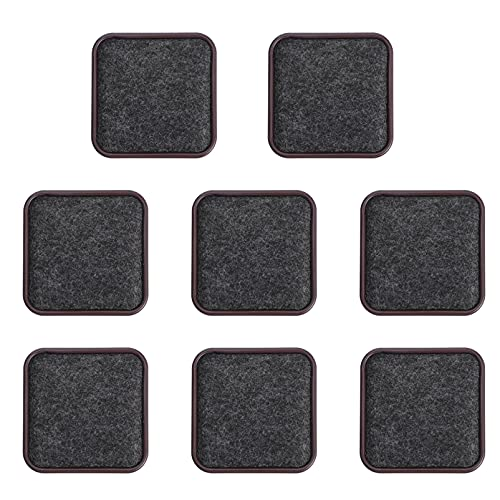 Angoily 8pcs Non Slip Furniture Pads Furniture Floor Protectors for Keep in Place Furniture Furniture Stopper Brown