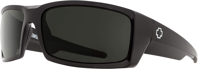SPY General Rectangle Sunglasses For Men + FREE Complimentary Eyewear Kit