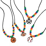 Sports Necklace Craft Kit -12 - Crafts for Kids and Fun Home Activities