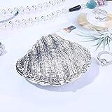 YZDMC Ornamenti Portamonete con Cerniera in Argento Portafedi in Metallo con Conchiglia per Display ad Anello