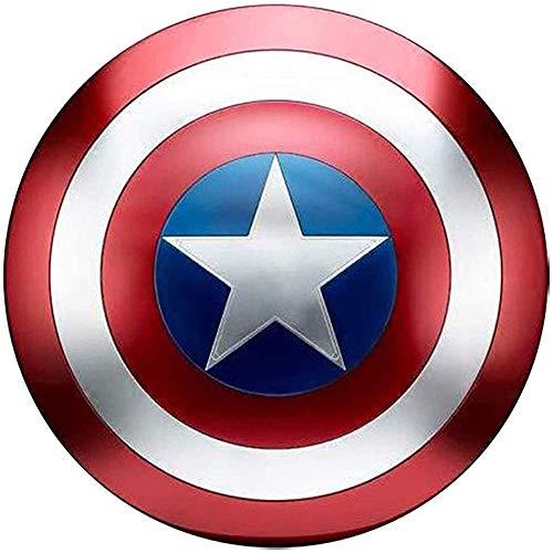 Escudo Capitan America Metal Adulto Escudo De Superhéroe 45CM Halloween 75 ° Aniversario Adultos Y Niños Barra De Escudo Americano Decoración para Colgar En La Pared 1 A 1
