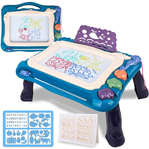 Meland Magnetic Drawing Board for Kids - Magna-Doodle Board for Toddlers, Magnetic Colorful Writing Sketch Board Educational Learning Toys Birthday Gift for 2 3 4 5 Year Old Boys Girls