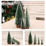 Bogoro 4 Mini Weihnachtsbaum Künstlicher, Mini Weihnachtsbäume Schneetanne, Mini Tannenbaum Christbaum mit Ständer Weihnachtsdeko Weihnachten Tischdeko Winterdeko Decoration - 7