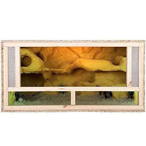 REPITERRA Terrarium für Reptilien & Amphibien, Holzterrarium mit Frontbelüftung 100x50x50 cm