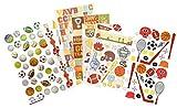 Generic Scrapbook Sports Stickers | Baseball, Soccer, Basketball, Volleyball, Tennis Sport Sticker Set | for Scrapbooking, Planners, Laptop, Helmet, Locker, Dorm Room Decor, Journal, Album, DIY Crafts
