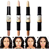Wismee 3Pcs Contour Highlighter Stick Makeup Set Three-Dimensional 6 Color Duo Brightening Concealer Contouring Pen Kit for Light Dark Skin Face Makeup Cosmetic Foundation Creamy Set for Women Girls