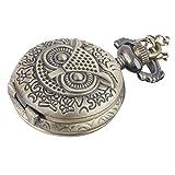 81stgeneration Collar Colgante Reloj de Bolsillo Analógico Cuarzo Estilo Vintage Búho Mujer Latón, 78 cm