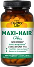COUNTRY LIFE Vitamins Maxi-Hair Plus BIOTIN, 120 VCAP