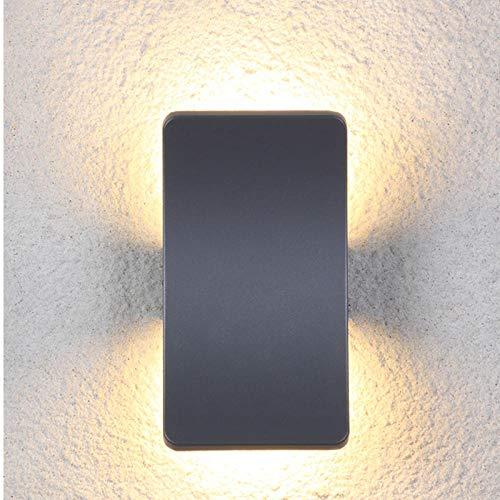 Buitenverlichting, padverlichting, buitenwandlamp, schijnwerper, moderne wandlamp, led, in de open lucht verdubbelen boven en onder wandverlichting, pa-corridordor, tuingtuin, parkeerplaatsverlichting