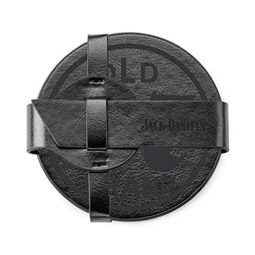 Jack Daniel's Coaster Set – Coaster Set of Four – Authentic Logo: Home & Kitchen