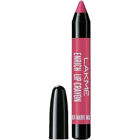 Lakme Enrich Lip Crayon, Mauve Magic, Gives Smooth Matte Finish, 2.2 g
