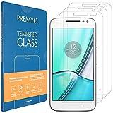 PREMYO 3 Piezas Cristal Templado Protector de Pantalla Compatible con Motorola Moto G4 Play - Sin Burbujas Dureza 9H