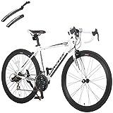カノーバー(CANOVER) ロードバイク 自転車 前後泥除けセット 21段変速 アルミフレーム CAR-015 UARNOS ホワイト 50041