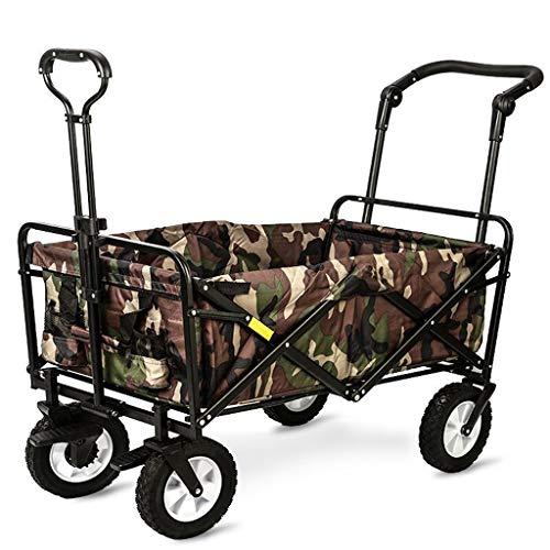 Einkaufstrolleys Multifunktionshaushalts-Laufkatze kann Reise-vierrädriger Warenkorb sitzen und liegen, der tragbaren Warenkorb im Freien faltet Tragbares Mehrzweckwagen (Color : A)