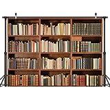 LYWYGG 7X5FT Libreria Sfondo Ufficio Retro Sfondo Libreria Libro...