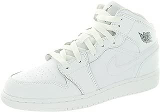 Nike Jordan Kids Air Jordan 1 Mid BG White/Cool Grey/White Basketball Shoe 6.5 Kids US