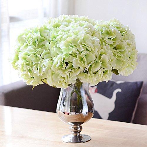 LianLe, künstliche Hortensie, 5 große Köpfe, Blumenstrauß, handgefertigte Verzierungen, ohne Vase