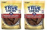 True Chews Dog Treats Premium Grillers Steak Jerky 10oz Made in USA (2 Packs)