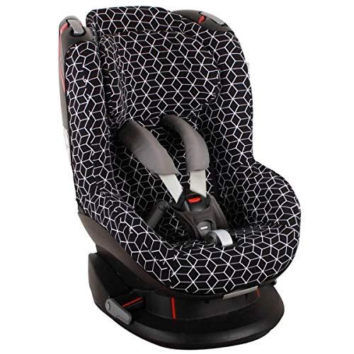 Bezug Maxi-Cosi Tobi Kindersitz Schwarz geometrisch Öko-Tex 100 Baumwolle Schweißabsorbierend und weich für Ihr Kind Schützt vor Verschleiß und Abnutzung