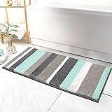 HEBE Extra Long Bathroom Runner Rug Non-Slip Microfiber Bath Mat Rug...