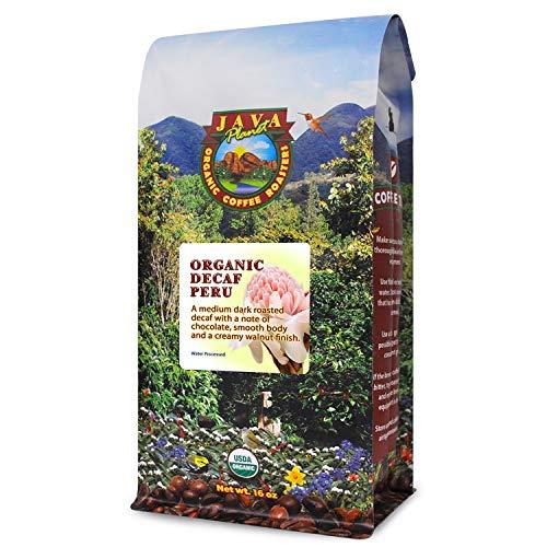 Java Planet Organic Decaf Coffee Beans Medium Dark Roast