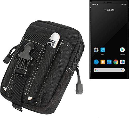 K-S-Trade Gürtel Tasche Für Carbon 1 MKII Gürteltasche Holster Schutzhülle Handy Hülle Smartphone Outdoor Handyhülle Schwarz Zusatzfächer