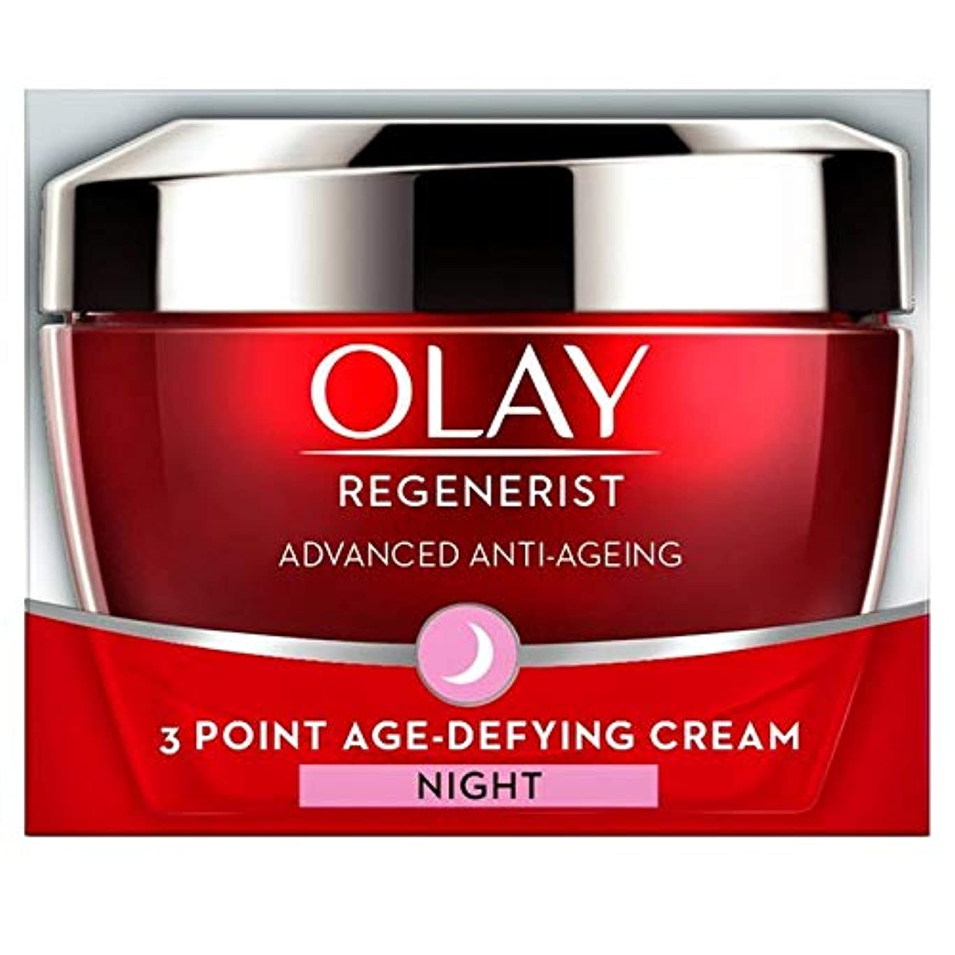 金銭的なインク回答[Olay ] オーレイリジェネ3ポイント夜の年齢挑む保湿50ミリリットル - Olay Regenerist 3 Point Night Age-Defying Moisturiser 50ml [並行輸入品]