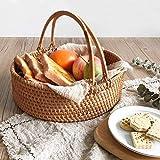 ZTMN Multifunktionaler Picknickkorb, handgewebt, kann Verschiedene Lebensmittel, Früchte, Zeitschriften, Bier, Kleidung (Größe: L) aufbewahren
