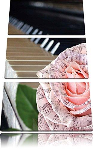 pianoFoto Canvas 3 deel | Maat: 120x80 cm | Wanddecoraties | Kunstdruk | Volledig gemonteerd