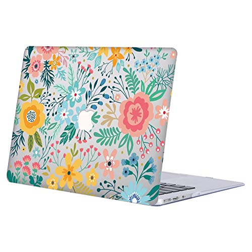 Funda para MacBook Pro 13 Pulgadas, Plástico Dura Case Carcasa para 2012-2015 MacBook Pro 13.3 Pulgada con Retina Display(Modelo: A1502/ A1425),R808 Flor de Color