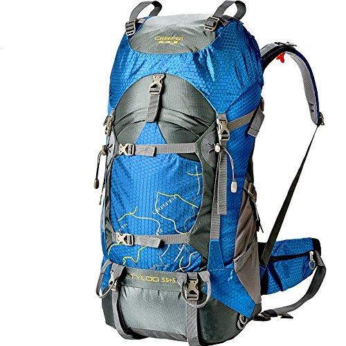 Creeper Happydog 60L+5L Hiking Backpack Waterproof with Rain Cover